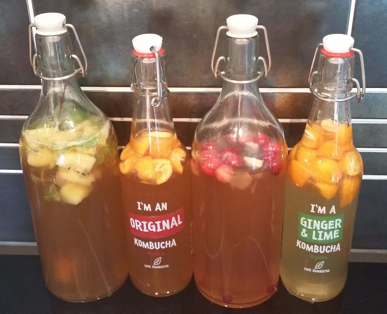 kombucha met fruit